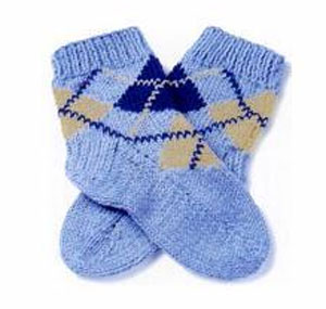 How to knit baby socks?